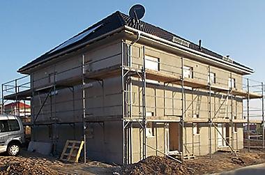 Bannewitz-Hausbau Neubau eines Zweifamilienhauses