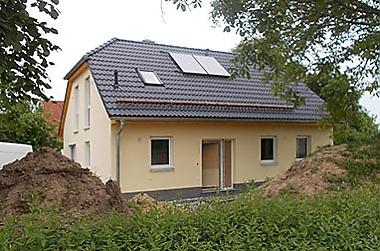Bauunternehmen Neubau eines Einfamilienhauses