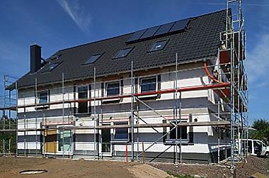 Doppelhaus-bauen Neubau eines Doppelhauses