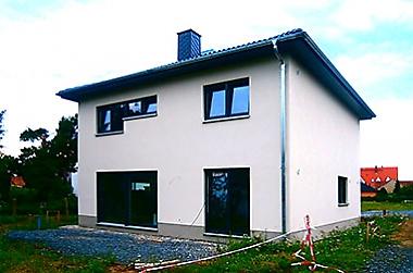 Fertighaus-bauen Neubau eines Einfamilienhauses