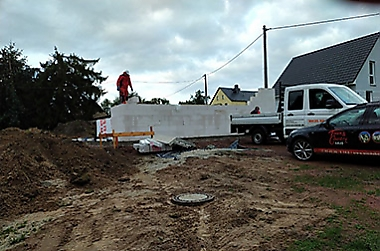 Hausbau-Nähe-Chemnitz Neubau eines Einfamilienhauses