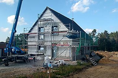 Hausbau-feste-Materialpreise Neubau eines Einfamilienhauses
