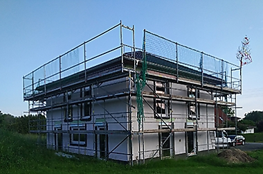 Massivhaus bauen Neubau eines Einfamilienhauses