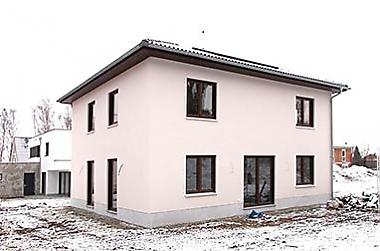 Stadthaus-bauen Neubau eines Einfamilienhauses
