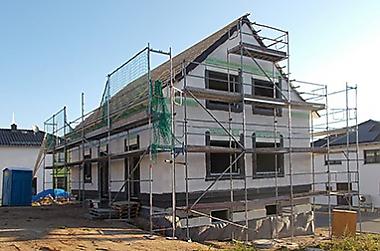 haus bauen schlüsselfertig Neubau eines Einfamilienhauses
