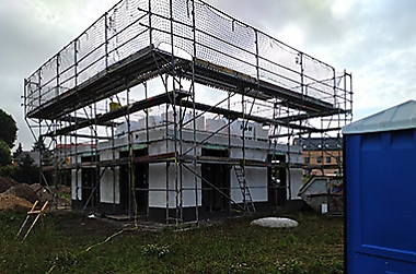 massiv-bauen-waehrend Corona Neubau eines Einfamilienhauses