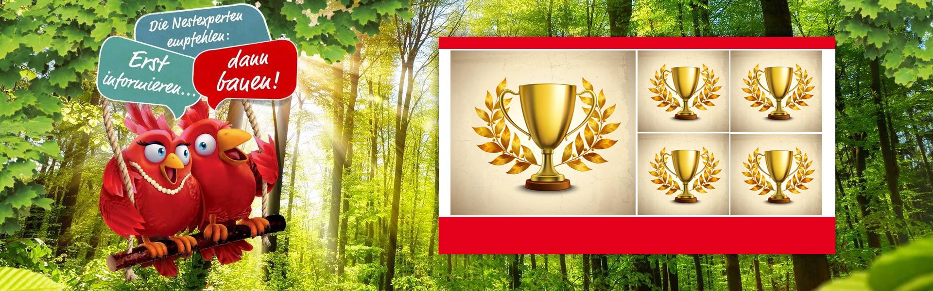 Auszeichnung für Hausbau Focus Money 5-fach super