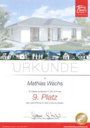 Hausbau Auszeichnung von Town & Country beste Bauträger 2016 in Deutschland - Sehr gut