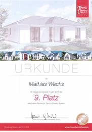 Hausbau-Zertifikat 2015