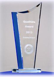 Hausbau-VQC-Qualitätsaward 2013 - Die Auszeichnung
