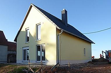 Baustellenbesichtigung Wellerswalde 2020 - Bauherren beim Hausbau