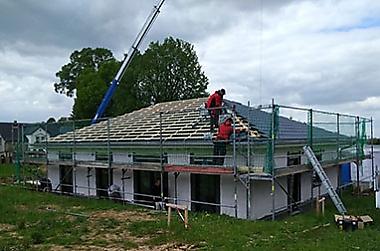 Baustellenbesichtigung Leisnig 2019 - Bauherren und Ihre Häuser