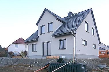 Baustellenbesichtigung Januar 2017 - Hausbau in Wilsdruff - Town & Country